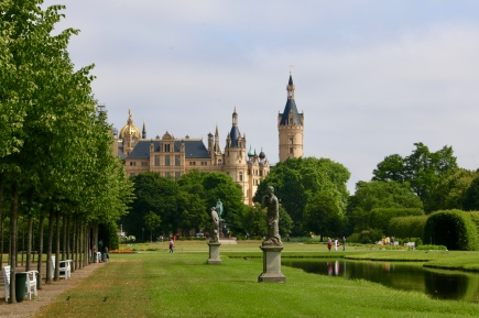 Schwerin Castle with the gardens in the foreground