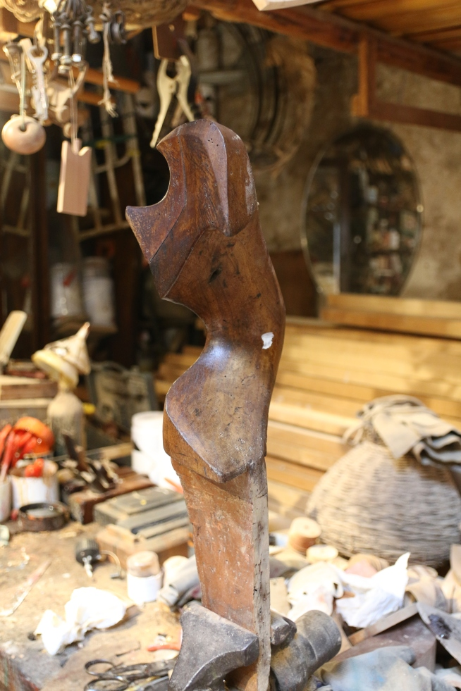 A piece of walnut wood carved for the Gondoliers