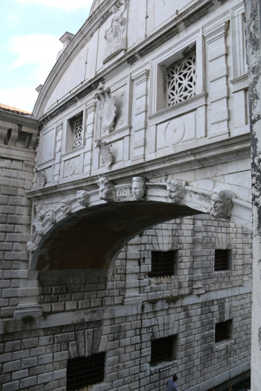 Bridge of sighs from within the Palace