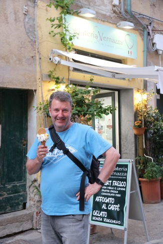 Phil with his favourite gelato