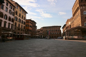 The piazza in the early morning light