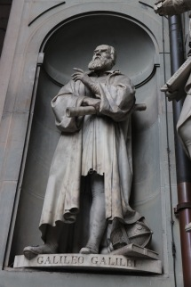 Galileo - one of the many sculptures surrounding this area of influential artists