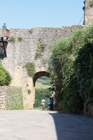 Looking out of the Roman gate (heading south towards Rome)