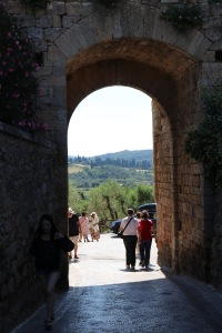 Looking out the Florentine gate