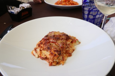 Lasagne - which was absolutely delicious
