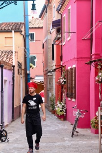 In the back streets of Burano