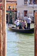 Geting a local gondola across the river - the locals stand up when going from one side to the other