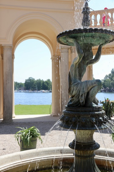 Fountain and lake