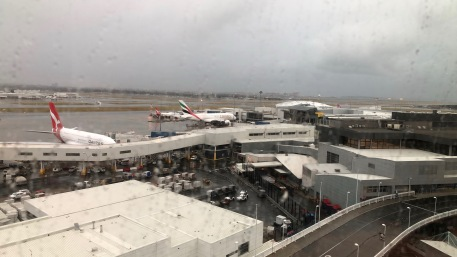 View from our room at Rydges at Sydney Airport