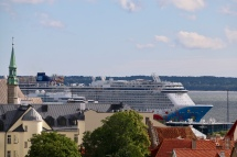 Our ship - Norwegian Breakaway from the viewpoint