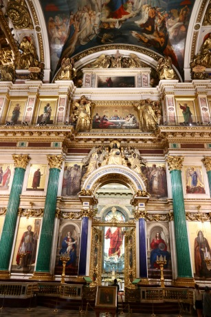 The front altar in St Isaac's Cathedral