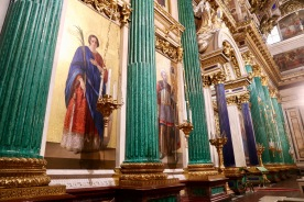 Close up of artwork on front altar in St Isaac's Cathedral