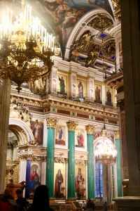 The beautiful interior of St Isaac's Cathedral