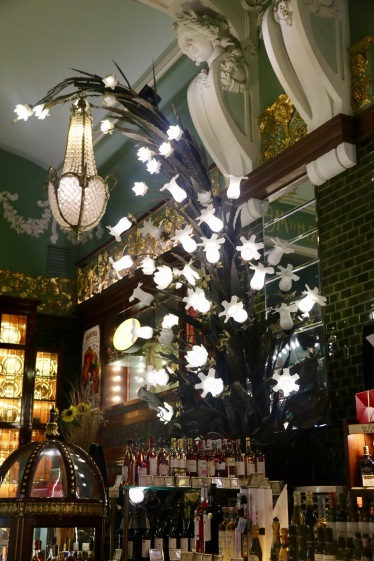 Art Deco lights that decorated the store