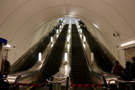 1st set of escalators