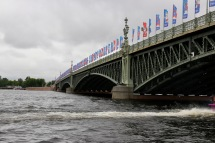 Bridge crossing the Neva River