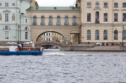 Bridges over canals and through different buildings as part of the Hermitage