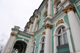 Outside of the Hermitage - housed in the Winter Palace