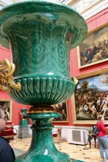 Another malachite urn with amazing detailed patterns