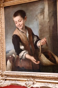 Boy with a dog by Bartolome Esteban Murillo painted 1655 - 1660. The look on this boy's face reminds me of how my boys look at their dog - simple love and joy