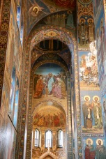 Amazing artwork within The Church of Our Savior on Spilled Blood