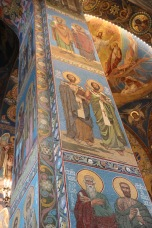 Detailed artwork - mosaics inside The Church of Our Savior on Spilled Blood