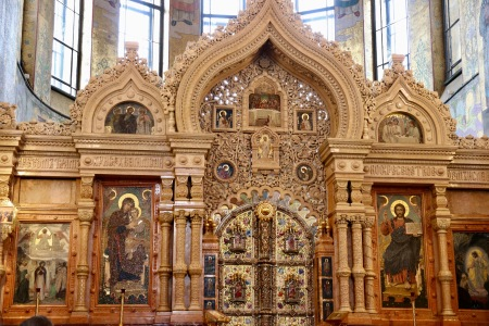 The altar of the The Church of Our Savior on Spilled Blood