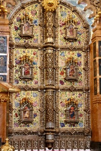 Close up details of The Church of Our Savior on Spilled Blood