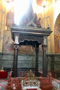 This vestibule marks the point where Emperor Alexander II was mortally wounded at The Church of Our Savior on Spilled Blood