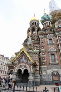 More details of the facade of The Church of Our Savior on Spilled Blood