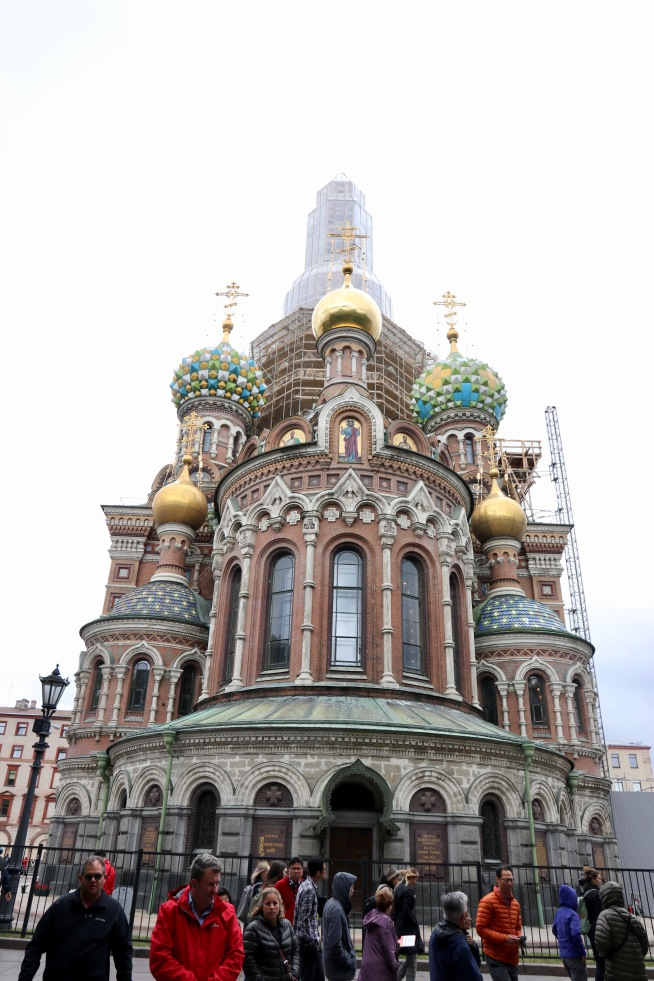 The Church of Our Savior on Spilled Blood with the darn scaffolding! Darn!