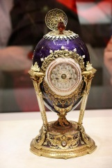 Cockerel Easter egg, 1900 presented by Emperor Nicholas II to his mother.