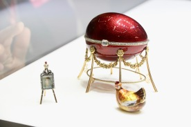 Some pieces of Faberge, although the experts aren't sure if they are related.