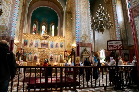 Inside the Alexander Nevsky Cathedral