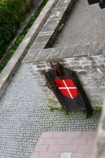 Where the Danish flag supposedly fell