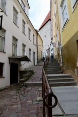 Tallinn coming down from Upper Town to Lower Town