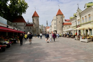Looking back to Lower Town Tallinn