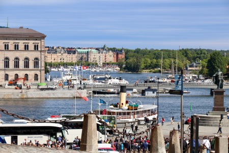 View from the hill next to the Palace - Stockholm