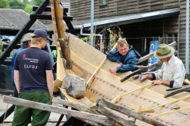 Building a replica Viking boat