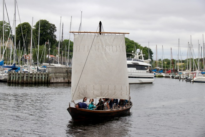 The replica Nordic boat