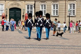 Organising to switch shifts at Amalienborg Palace Copenhagen