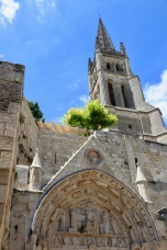 St Emilion church and bell tower