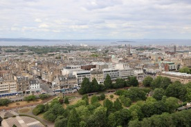 View looking out over Edinburgh