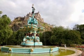 Fountain and castle