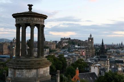 Late afternoon looking over Edinburgh