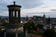 Later in the afternoon looking over Edinburgh