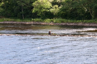 Fishermen at the start of the River Ness