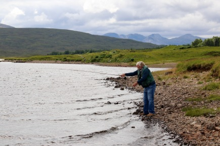Scenery between Inverness and Gairloch - He didn't catch anything - I asked