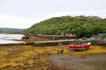 It was low tide at Badachro