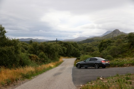 The picturesque scenery (with our hire car) on the way back to Gairloch